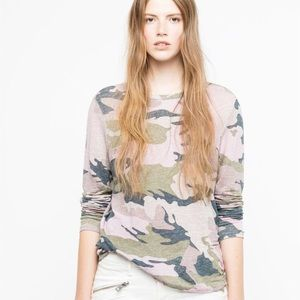 Zadig & Voltaire | Willy Lin Camo Linen Top Size M
